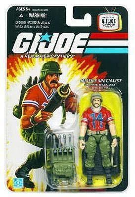 - G.I. Joe 25th Anniversary Cartoon Series Cardback: SGT. Bazooka (Missile Specialist) 3-3/4 Inch Action Figure