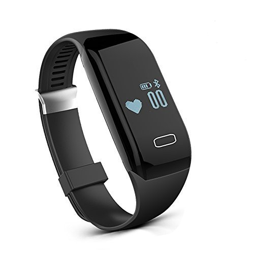 Fitness Watch, Heart Rate Monitor Tracker, Pedometer Bluetooth Sports Bracelet Activity Waterproof Tracker with Steps Counter for Android iOS (Max Heart Rate Test)