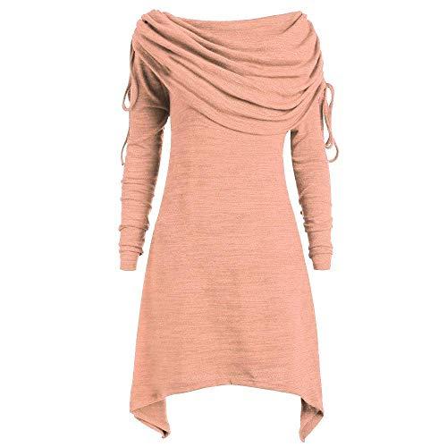 Top colore Lunghe Camicetta Plus Viola Maniche Con Donna 5xl Tondo Rosa Colletto Dimensione E Qiusa Tunica Size A Tops OS6Xqdqxw