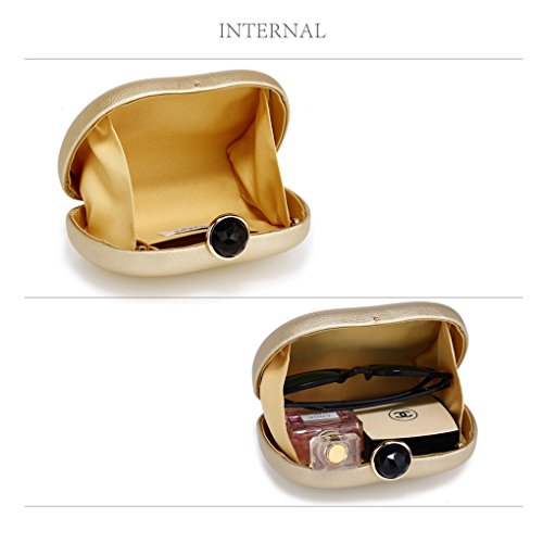 Out Women's Case Purse Night Dinner Leahward Evening Wedding Hard Clutch Gold Party For Handbags pTqdxRv