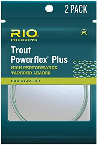 RIO Fly Fishing Leaders Powerflex Knotless 7.5Ft 5X Leaders 3 Pack Fishing Line Clear