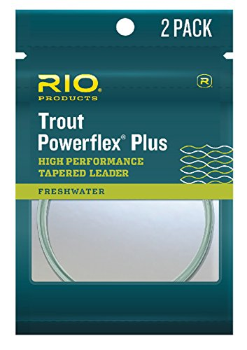 RIO Products Leaders Powerflex Plus 9' 5X Leader 2 Pack, Clear