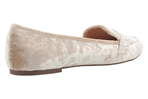 Fitters Footwear Alena - Damen Ballerinas - Samt Beige Schuhe in Übergrößen