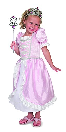 Melissa & Doug Princess Role Play Costume Set (3 pcs)- Pink Gown, Tiara, - Up Dress Pink Set Princess