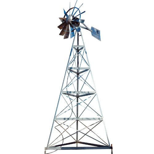 Outdoor Water Solutions AWS0013 20-Feet Galvanized 3-Legged Aeration System Windmill