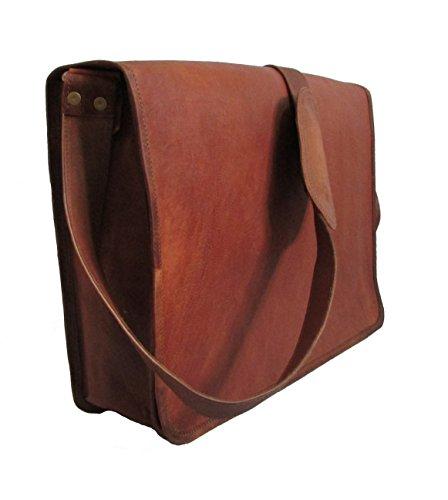 LEATHER BAGS 4 YOU 15 Leather Bag Unisex Full Flap Handmade Leather Bag Laptop Bag Messenger Bag Crossbody Bag