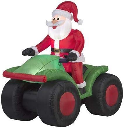 Amazon.com: Yal Boutique - Aeródromo de Papá Noel en un ATV ...