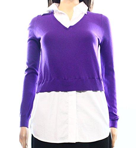 Ralph Lauren Lauren Women's Petite Layered Sweater, Purple. ()