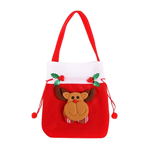 Nesee Reusable Made of Durable Fabric Santa Sack/Drawstring Bags Treat Bags with Holiday Party Decorations Xmas Presents Storage (Best Way To Hide Tv Cords)