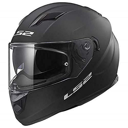 LS2 Stream Solid Full Face Motorcycle Helmet With Sunshield (Matte Black, Medium) (Best Full Face Motorcycle Helmet Under 100)