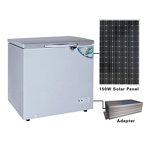 Solar 12V DC Freezer Refrigerator Both Way to Charge 140L( 5 CUBIC FEET) CSF--152JA (Homeuse)