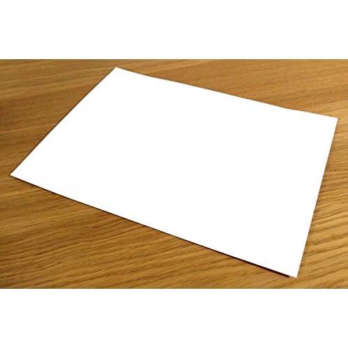 delicate A4, 10 hojas color blanco impermeable vinilo PVC calidad ...
