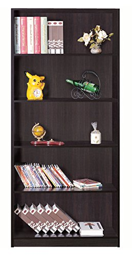 Cheap Modern 5 Tier 5 Shelves Custom Adjustable Bookcase (Red Cocoa)