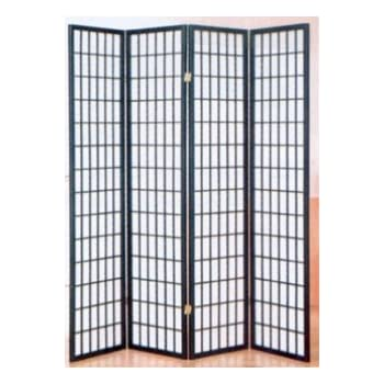 Amazon.com: 4 Panel Black Folding Shoji Screen Room ...