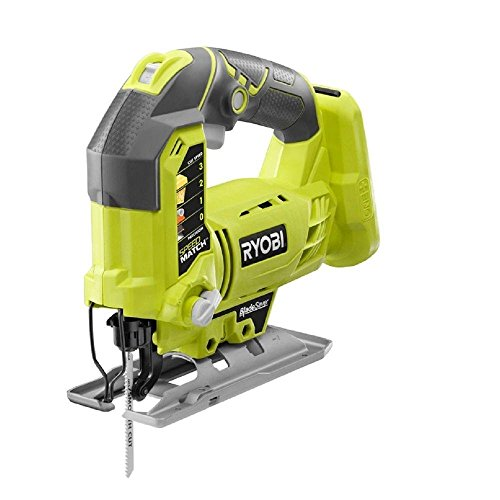 - Ryobi One+ P5231 18V Lithium Ion Cordless Orbital T-Shaped 3,000 SPM Jigsaw (Battery Not Included, Power Tool and T-Shaped Wood Cutting Blade Only)