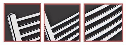 10 h w 6 x 1600mm 5 500mm Bar Muster: 4 7 Bad Heizkorper Gebogen Chrom Rohrdurchmesser 22mm