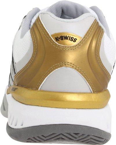 Swiss dur terrain Or tennis Blanc Chaussures Blanc Or femme Argent Bigshot Argent K xTXSqdAq