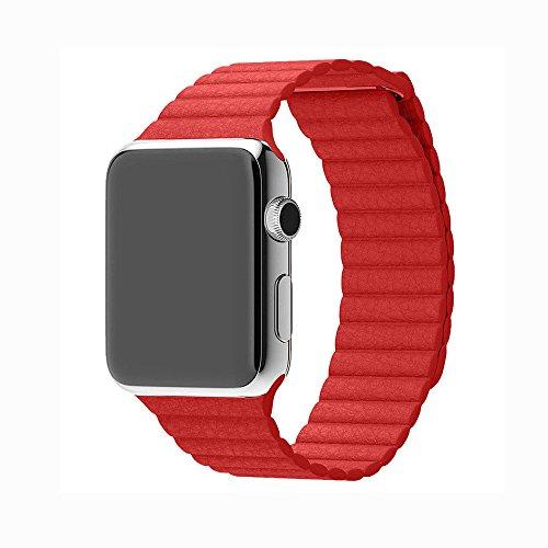 Apple watch metallic leather magnetic product image