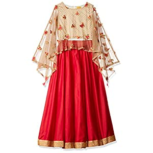 Akkriti By Pantaloons Girl's Cotton Lehenga Choli