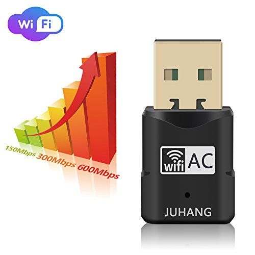 JUHANG AC 600M Wireless USB adapter Dual Band (2.4G/150Mbps+5.8G/433Mbps), Wireless USB Dongle Antenna Network Adapter Works with Any WiFi Routers, The Unique Design Brings free Wireless Digital Life by JUHANG (Image #3)