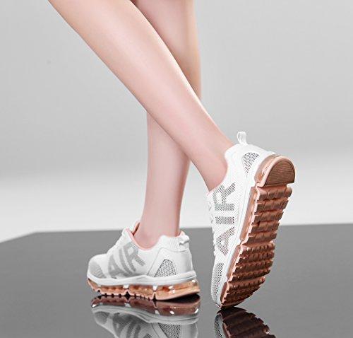 Unisex Air Schuhe Sneakers TORISKY Weiß Rot Schwarz Mesh Fitness Sportschuhe Weiß Turnschuhe Laufschuhe Leichte RKrqr06wdF