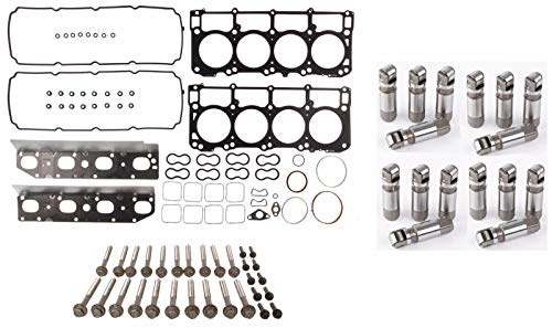 MLS Cylinder Head Gasket Set & Bolts & Non-MDS Lifters Kit compatible with 09-14 Chrysler Dodge Jeep 5.7L HEMI Engines