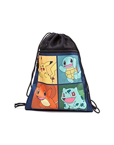 Pokemon fedci290212pok–Pikachu, Squirtle, Charmander, Bulbasaur Turnbeutel