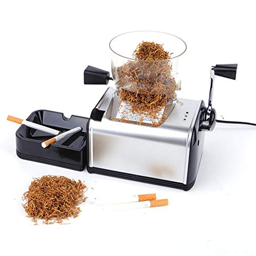 Oeyal Cigarette Rolling Machine Electric Cigarette Tobacco Roller Maker Automatic Cigarette Injector Maker Machine (Black) by Oeyal (Image #1)
