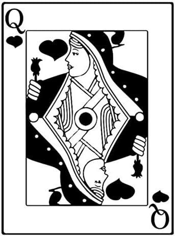 Sticker de carro 11.6 * 15.6 CM Reina de Corazones Interesante que Juega Póker Etiqueta Engomada del Coche Vinilo Decorativo 2 piezas: Amazon.es: Bricolaje y herramientas
