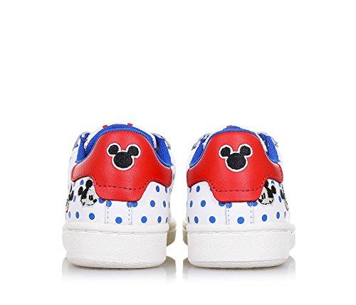 MOA -Chaussure à lacets blanche en cuir, avec motif à pois et décorations avec Mickey Mouse, garçon, garons-33
