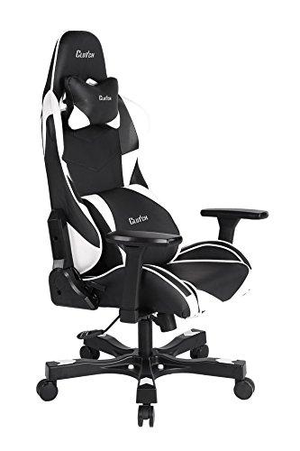 41gUnD 63jL - Clutch-Chairz-Crank-Series-Charlie-Gaming-Chair-BlackWhite