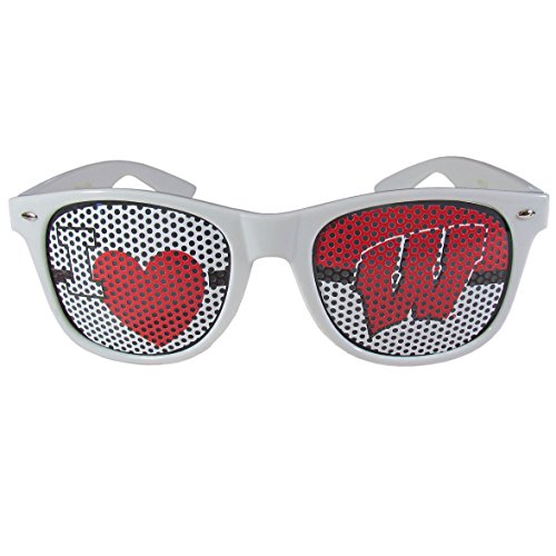 NCAA Wisconsin Badgers I Heart Game Day Shades, -