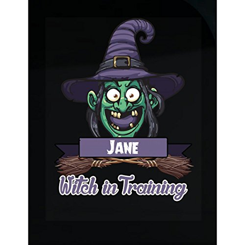 Halloween Costume T Shirt For Kids Jane Witch In Training Funny Halloween Gift - Sticker ()