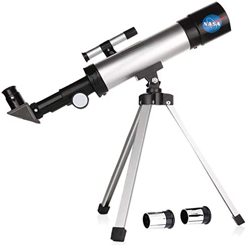 Smurfect Nasa Lunar Telescope for Kids Capable of 90x Magnification, Includes 2 Eyepieces – Portable & Easy To Use Lightweight Portable Telescope