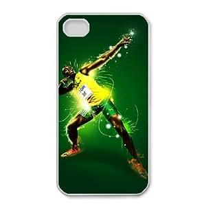 iphone4 4s Phone Case White Usain-Bolt-Art ES3TY7835388