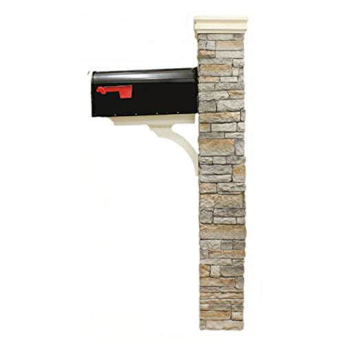 Eye Level Gray Cast Stone Mailbox Post with Curved Cap by Eye Level (Image #3)