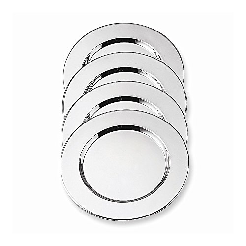 Resin Charger Plate - Jewelry Best Seller Silver-plated Four Piece 11.75 Charger Plates