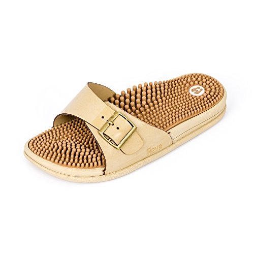 Revs Premium Acupressure & Reflexology Massage Sandals Women. Shock Absorbing, Cushion Sole with Orthotic Arch. Stimulate Pressure Points, Relieve Pain, Boost Circulation. A Natural Drug-Free Therapy.