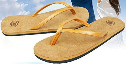 Difyou Infradito Da Uomo Infradito Sandali Da Spiaggia Per Infradito Per Coppie Marrone