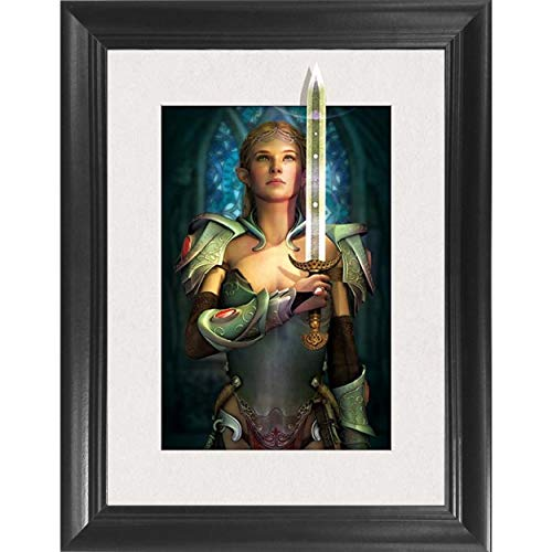 Lord of The Rings Arwen 3D Poster Wall Art Decor Framed Print | 14.5x18.5 | Lenticular Movie Posters & Pictures | Memorabilia Gifts for Guys & Girls Bedroom | LOTR & The Hobbit - Two Tower Book Art -