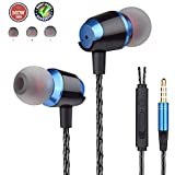 Earbuds Ear Buds Wired Headphones with Microphone in Ear Earphones with Stereo Mic and Volume Control Compatible Android Smart Phones iPhone iPad Samsung Music Noise Cancelling 3.5mm Audio Headphones