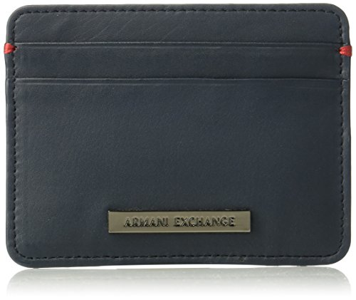 Armani Exchange Two Card Holder Accessory, Navy, One Size