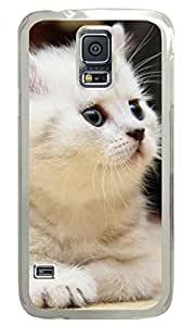 The Kitty Be in a Daze DIY Hard Shell Transparent Samsung Galaxy S5 I9600 Case By Custom Service Your Best Choice