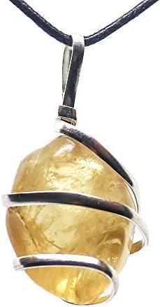 Citrine Gemstone Pendant Necklace Abundance product image