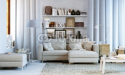 Canvas 50 x 30 cm Canvas image 50 x 30 cm   Wohnzimmer in Wohnung  Small living room , image on a Canvas
