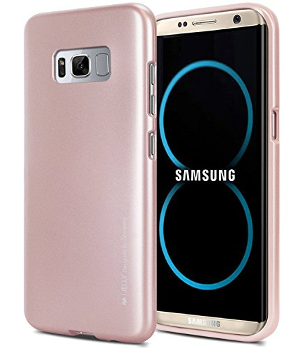 Galaxy S8+ [PLUS] Case, [Ultra Slim Fit] GOOSPERY i-Jelly Case [Metallic Finish] Light [Flexible] Shock Absorbing TPU Bumper Shockproof Cover [Anti-Discoloring] for Samsung Galaxy S8 PLUS
