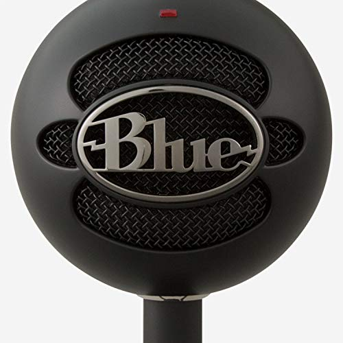 Blue Snowball iCE USB Mic for Recording and Streaming on PC and Mac, Cardioid Condenser Capsule, Adjustable Stand, Plug and Play - Black
