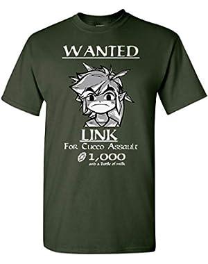 Link Wanted! Legend of Zelda T-Shirt Men Adult Unisex Tee New XS - 5XL