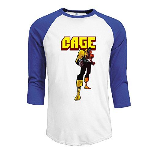 mens-luke-cage-100-cotton-3-4-sleeve-athletic-baseball-raglan-shirt-royalblue-us-size-l