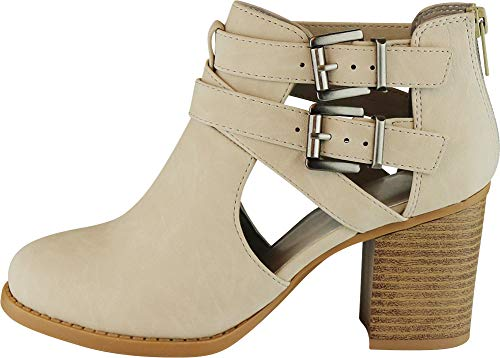 Pictures of Cambridge Select Women's Side Cut Out Light Taupe Nbpu 7